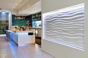 Dunes 3D Wall Panels at Summer Salt Restaurant